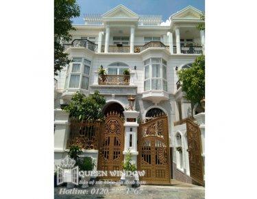 Công ty cửa lưới Nữ Hoàng đã tư vấn, thiết kế và thi công cửa lưới chống muỗi căn hộ Villas Chị Dung, Q. Gò Vấp, TP.HCM